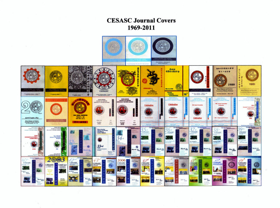 Journal covers of CESASC since 1969